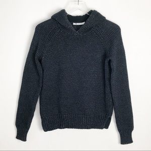 T by ALEXANDER WANG Chunky Knit Hoodie Sweater XS